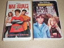 Disney's 2002 Max Keeble's Big Move & 1996 Escape To Witch Mountain VHS Lot of 2