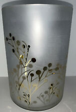 Yankee Candle GREENERY GOLD Large Jar Or Pillar Candle Holder NIB 7""