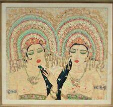 MOHAMMED HARAHAP~b.1951~WOMEN WEARING INDONESIAN HEADDRESS~CHRISTIE'S PROVENANCE