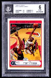 RARE 1/1 BGS 2006-07 Topps #123 LeBron James Eddie Griffin Name Overprint Error