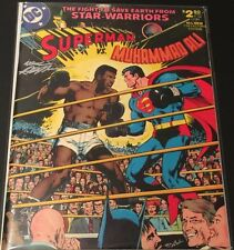DC Comics Superman Vs. Muhammad Ali Treasury Edition Signed By Neal Adams NM