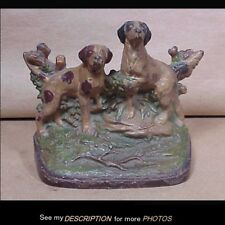 Scarce Hubley Cast Iron Doorstop Hunting Dogs English Pointers in Landscape 281