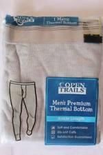 NEW Mens Thermal Underwear XL Waffle Knit Pants Gray Bottoms Long Johns