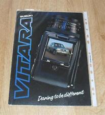 Suzuki Vitara JLX Brochure 1988