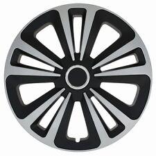 "4 x Radkappen TERRA  15"" Zoll Silver & Black Radzierblenden VW,AUDI,BMW, OPEL"
