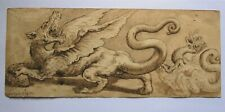 OLD MASTER. Italian School. A fine study in ink & wash of Dragons after Vasari
