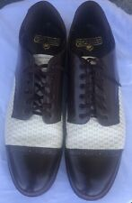 Vintage Stacy Adams Leather Cap Toe Two Tone Dress Shoes Size 11EE Well Kept