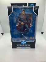 McFarlane DC Multiverse Red Son Superman 7-Inch Action Figure In hand