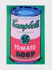 Andy Warhol Colored Campbell's Soup Can red & green Poster Kunstdruck 36x28cm