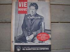 MINA 1963 IL CASO  IN COPERTINA RIVISTA VIE NUOVE