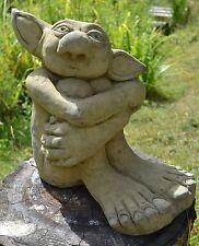 Big Ears Goblin Troll frost proof stone garden ornament original design 31cmH