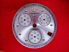 Cadran montre Longines chronograph watch CONQUEST dial date chrono vintage