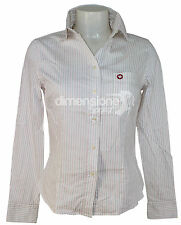 CAMICIA DONNA BIANCA a RIGHE TG. M MURPHY&NYE WOMEN FEMME CHEMISE SHIRT CAMISETA