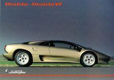 Lamborghini Diablo & Diablo VT 1993-94 UK Market Leaflet Sales Brochure
