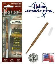 One (1) Fisher Space Pen SPR Series Brown Ink / Medium Point Refill  #SPR8
