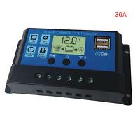 30A USB Solar Panel Battery Regulator Charge Intelligent Controller 12/24V