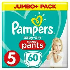 Pampers Baby Dry Pants Size 5 60 Nappies Jumbo Pack - Multicoloured