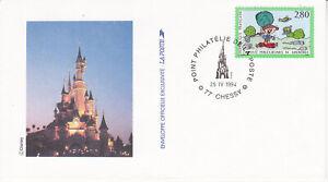 Enveloppe 1er jour FDC 1994 - Point Philatélie de la Poste Disney
