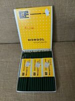 34 Eberhard Faber Mongol 868 Woodclinched Colored Lead Pencil Vintage Dark Green