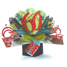 60th Birthday Pop-Up Greeting Card Original Second Nature 3D Pop Up Cards