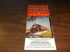 1974 STRASBURG RAIL ROAD TIMETABLE AND BROCHURE