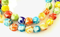 Handmade Multi Ghana Mixed Krobo recycled Glass African trade Beads