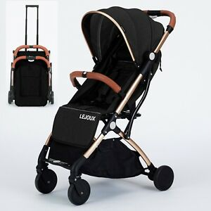 LEJOUX™ BABY PRAM PUSHCHAIR  STROLLER WITH TROLLEY PULL CHILDRENS BUGGY