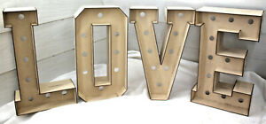 A397 LOVE 3D LETTERS SMALL 470 TALL with/out holes doughnut donut wedding party