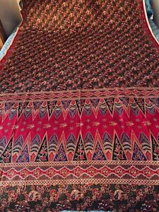 Vintage Indonesian Batik Fabric, Textile, Wall Hanging Mythological Print 2 Yds