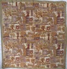 -Superbe grand foulard   soie   TBEG vintage scarf 106 x 110 cm