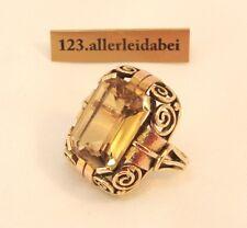Big Citrin Ring 585 er Gold Goldring Fingerring / AS 790