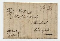 1792 Boston MA straightline stampless ship 34 Liverpool to Wiscasset ME [45.135]