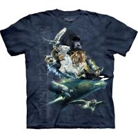 The Mountain Endangered Species Unisex Adult Graphic Wildlife T-Shirt, Navy, M