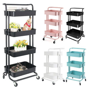 3/4 Tiers Salon Hairdresser Barber Beauty Spa Hair Storage Trolley Cart Drawers