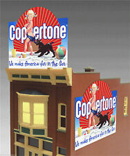 COPPERTONE LOTION ANIMATED  SIGN FOR HO-SCALE -LIGHTS,FLASHES,BLINKS & LOTS MORE