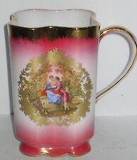 Tasse Becher, Kaffeetasse, Kakaubecher, rosa, Porzellan, Antik Stil, rar, 12x8cm