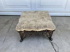 New listing vintage 1970 iron cast foot stool