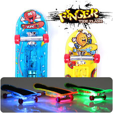 2x Mini Skateboard Toys Finger Board Tech Deck Boy Kids Children Gifts LED Light