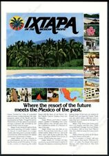 1976 Ixtapa Mexico travel 12 color scene beach photo vintage print ad