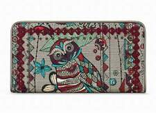 "NWT Sakroots Slim Wallet Charcoal Spirit Desert Coated New 6.5""x3.5"" SHP IN'TL"