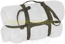 Usgi Vintage Canvas Military Sleeping Bag Carrier - Bed Roll Strap Od Green Gc