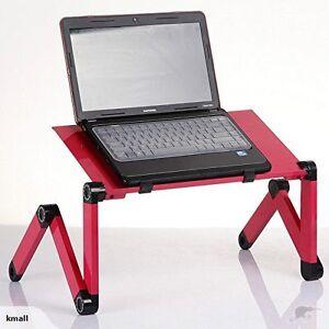 New T6 Flexible portable Laptop Notebook Desk Pink / Black