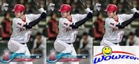 (3) 2018 Topps Shohei Ohtani FIRST PRINTED TOPPS ROOKIE CARDS w/RC Logo Angels