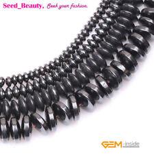 8x3mm Black Onyx Abacus Rondelle Beads 50pcs