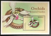 A345 UGANDA 2000 Flowers, Orchids, S/S #3, Souvenir Sheet Mint NH