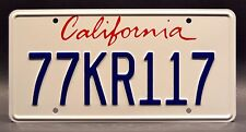 Knight Rider / 2008 Mustang Shelby GT500KR / 77KR117 STAMPED Prop License Plate