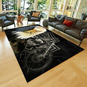 Harley Davidson 3 Are  Rug, Non Slip Floor Carpet, Teen's Carpet 3x5 ft