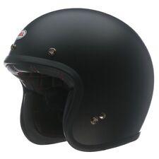 BELL CUSTOM 500 MATT BLACK CHOPPER CLASSIC MOTORCYCLE OPEN FACE CRASH HELMET