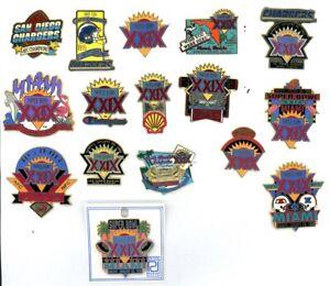 Super Bowl XXIX Pin Choice NFL Pins 29 SF 49ers San Diego Chargers Miami FL 1995