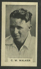 Godfrey Phillips BDV 1932/33 CRICKETERS Cigarette Card C.W.WALKER Card No 1